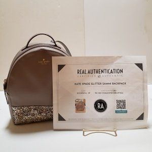 Kate Spade Glitter Sammi Backpack with COA